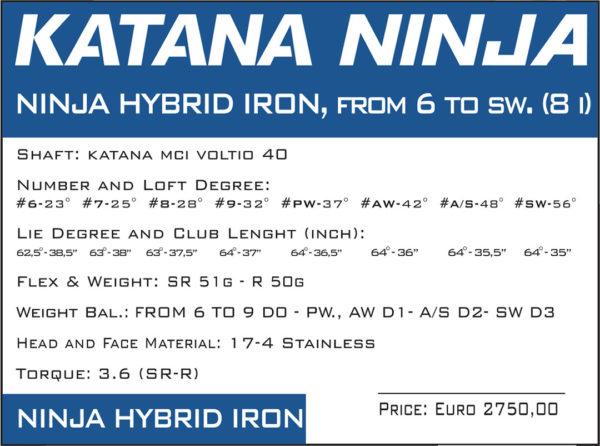 katana ninja hybrid iron 2019