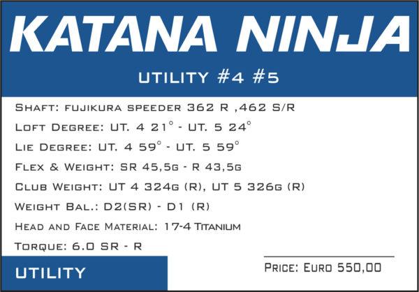 katana ninja utility scheda tecnica