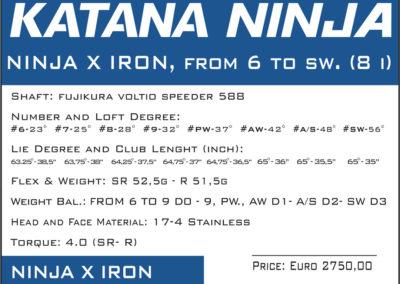 katana ninja x iron 2019