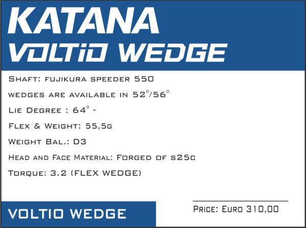 katana voltio wedge 2019